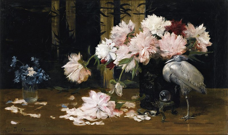 Ernest Ange Duez - Still Life with Peonies