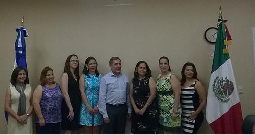 Cónsul de México en San Pedro Sula toma protesta a nueva mesa directiva de comunidad mexicana