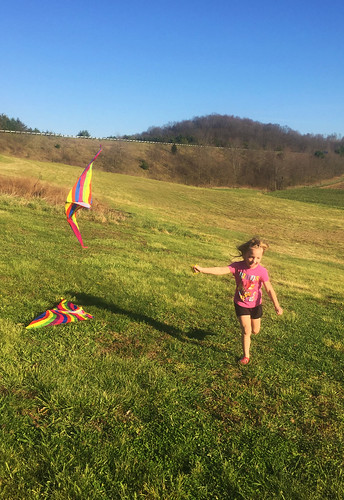 Phoebe flies a kite
