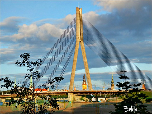 Bridge - Riga-Latvia - Cable stayed