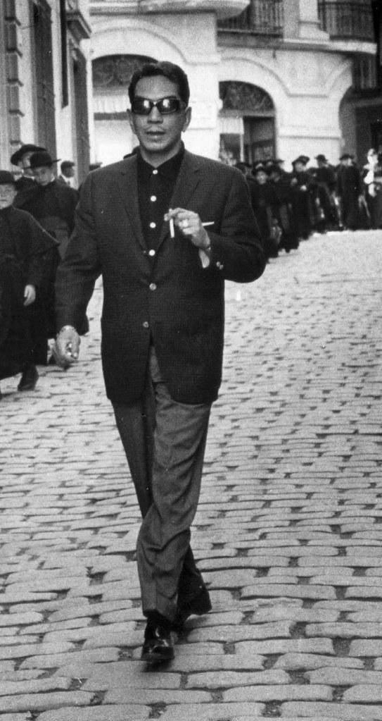 Visita de Cantinflas a Toledo en 1959. Detalle de una foto de Gerard Decaux