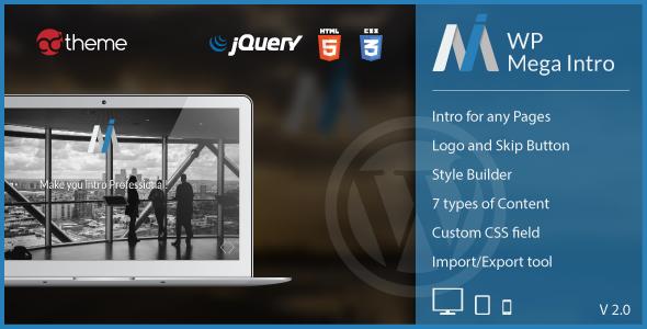 WP Mega Intro v2.1 – Amazing Intro Pages for WP