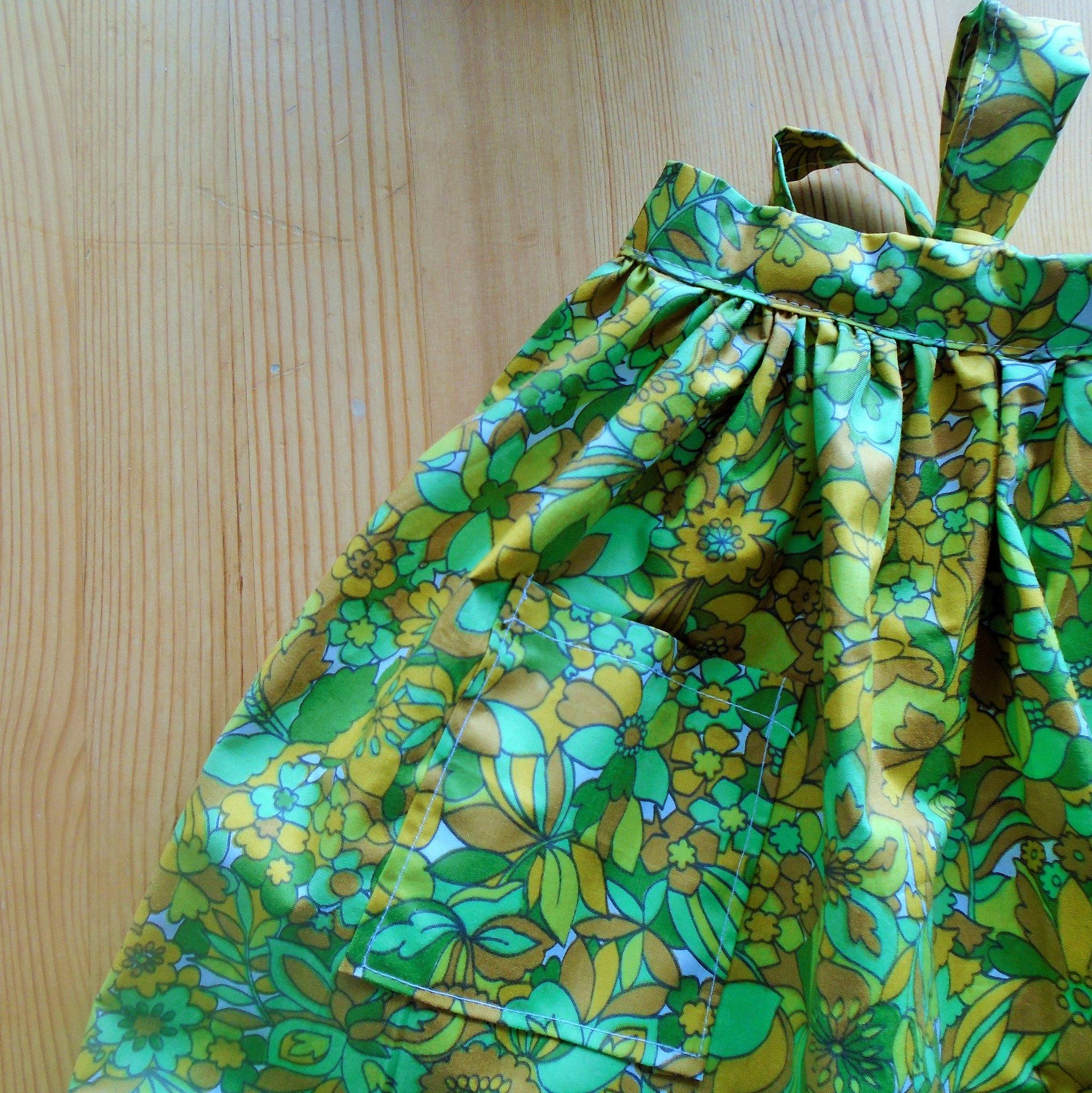 finished little apron