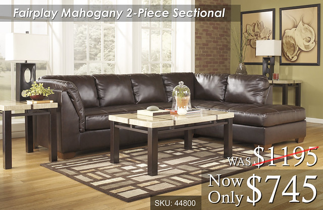 Fairplay Mahogany 2 Piece Sectional