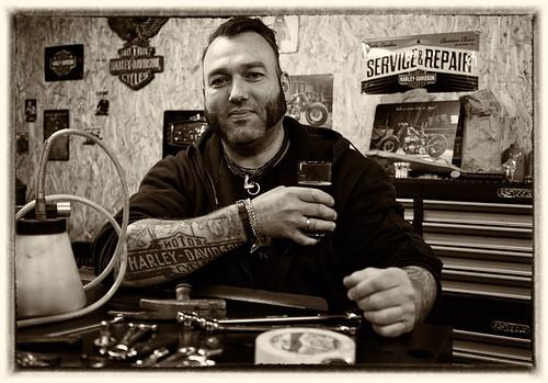 Harley Davidson freak Timo