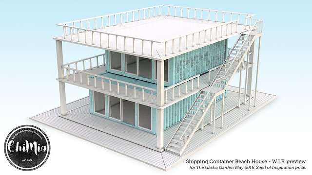 Shipping Container Beach House WIP Preview