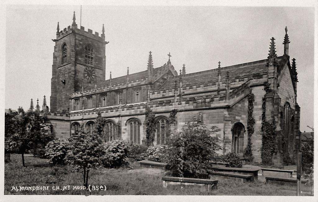 undated photograph of Almondbury Church