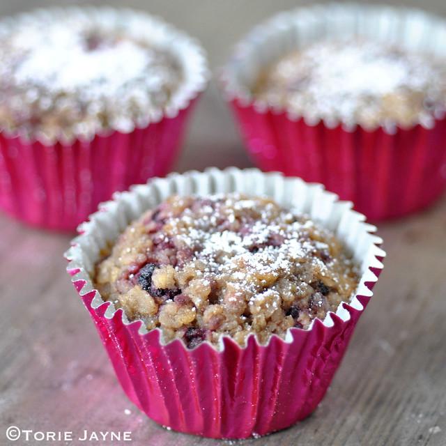 Gluten free Blackberry Muffins