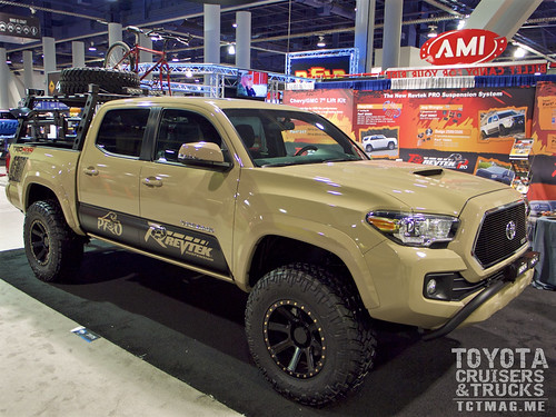Revtek known for it's suspension accessories debuted a new bed rack for the 2016 Tacoma.