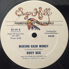 BUSY BEE:MAKING CASH MONEY(LABEL SDIE-B)