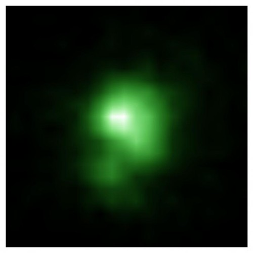 Galaxia guisante verde