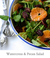 Watercress, Clementine & Pecan Salad