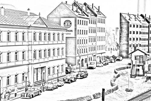 Some German City - drawing B&W (6956)