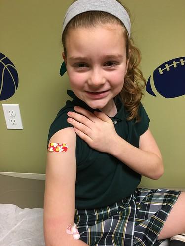Got her flu shot!