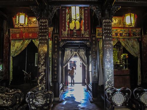 Hoi An: vue de la porte arrière de la maison Tân Ky