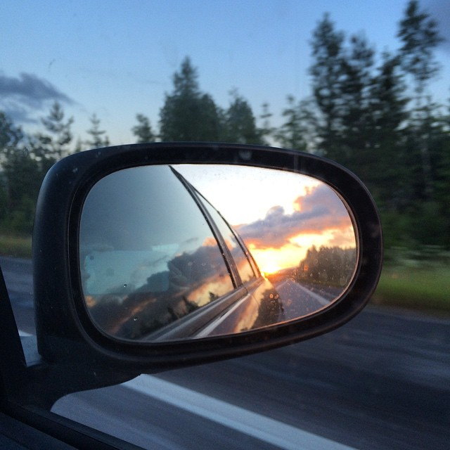 Midnight sun on the way home #Juhannus #midsummer #Finland