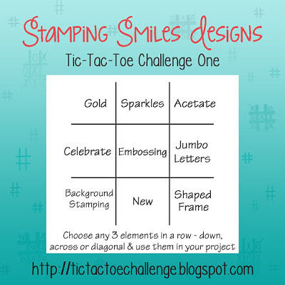 Stamping Smiles Designs Tic-Tac-Toe Challenge 1