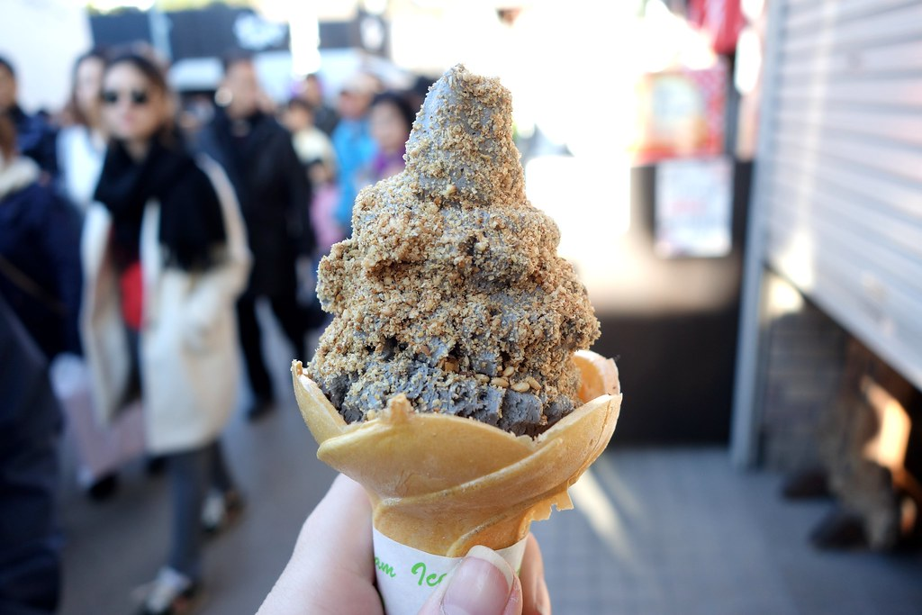 Black Sesame Ice Cream, Kamakura, Japan