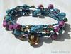 Purple and Teal Bohemian Bracelet Wrap