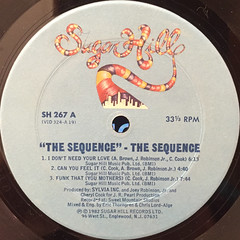 THE SEQUENCE:THE SEQUENCE(LABEL SIDE-A)