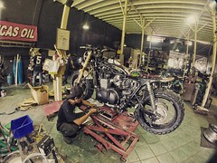 Triumph Bonneville becoming, hmm i dont know, cafe racer? Bobber? You decide..   Taken from Smoked Garage Bali