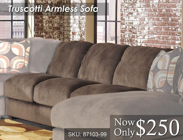 Truscotti Armless Sofa