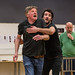 David Beames, Phil Cairns and Richard Addison in rehearsals for The Crucible, Lyceum Theatre