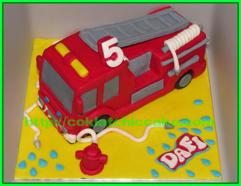 Cake Mobil Pemadam Kebakaran