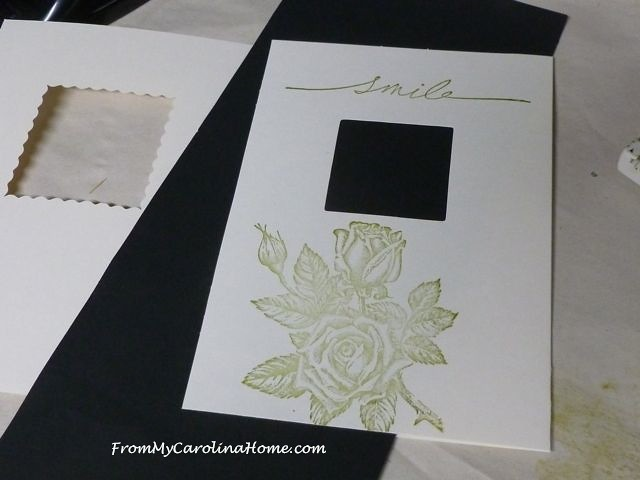 Tri-Fold Birthday Card tutorial at From My Carolina Home