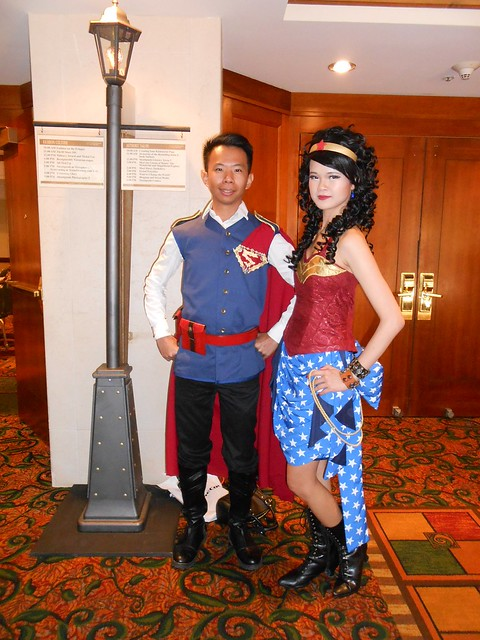 Steampunk Superman and Wonder Woman