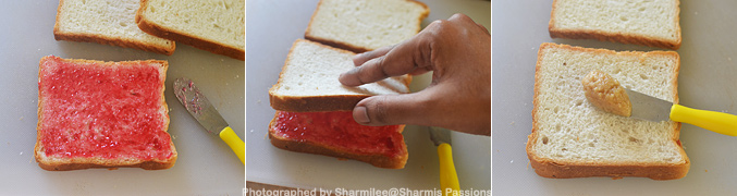 How to make Jam Peanut Butter Sandwich - Step2