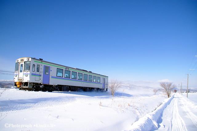 冬晴れの富良野線2