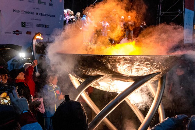 Lighting the Olympic Cauldron