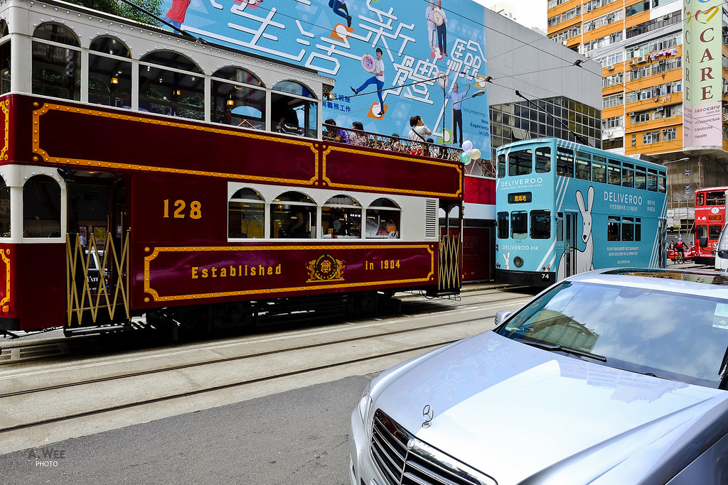 Mercedes and a Tram
