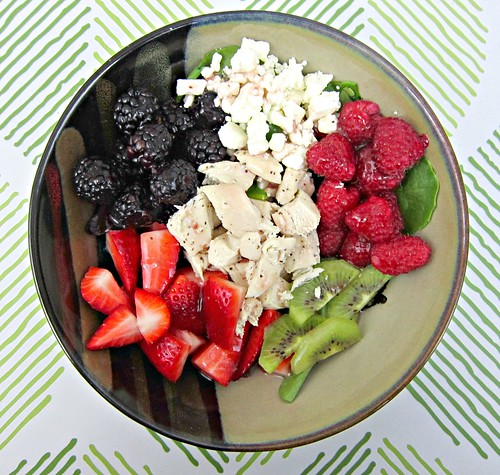 Chicken Berry Feta Salad wDressing