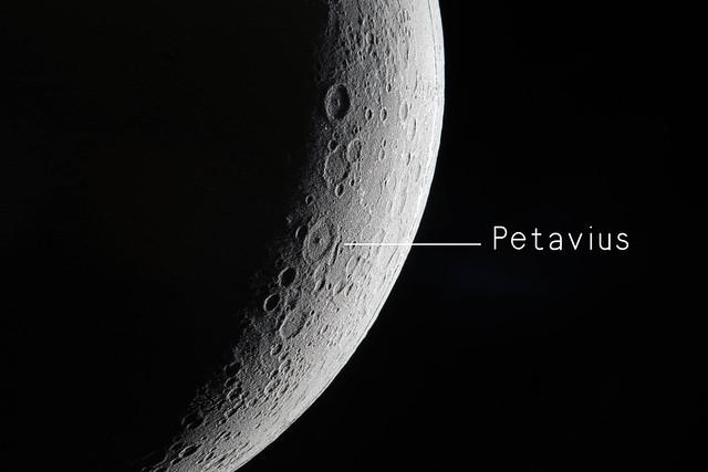 View of Petavius crater
