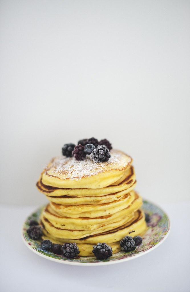 Lemon/ricotta pancakes