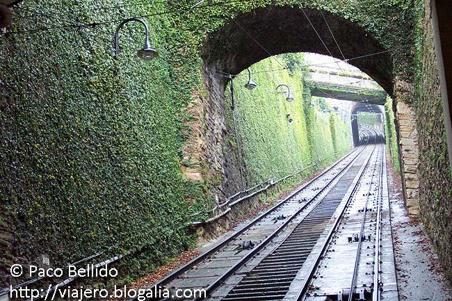 Las vías del funicular. © Paco Bellido, 2006