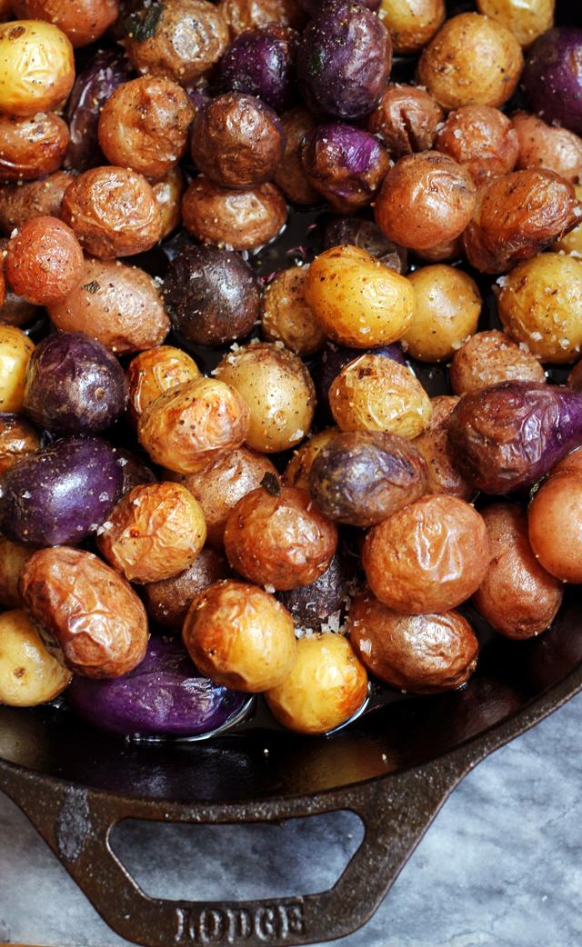 Pan-Roasted Baby Potatoes Browned in Sage-Infused Ghee