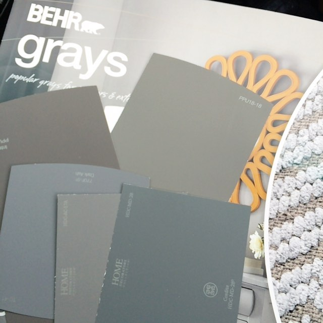 Grabbing some swatches for the exterior of the shed! #oneroomchallenge
