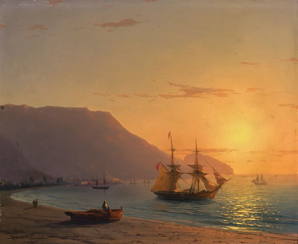 Sunset in Crimea by Ivan Aivazovsky, 1865