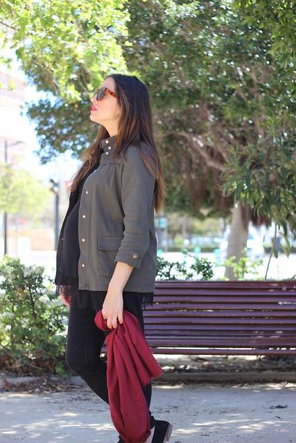 Sobrecamisa verde militar_ Rojo Valentini Blog (5)
