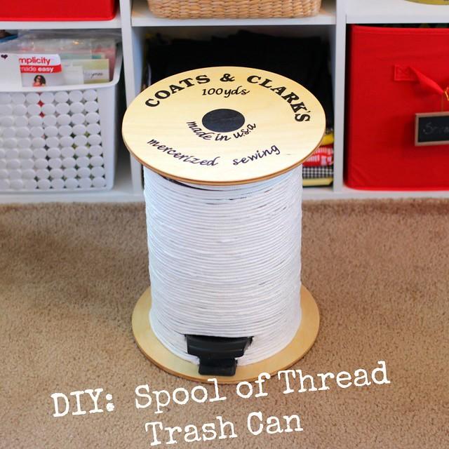 Spool of Thread Trash Can