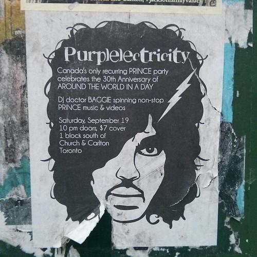 """""""Purplelectricity"""" #toronto #parkdale #prince #purplelectricity"""