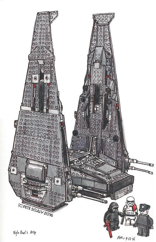 kylo ren lego ship