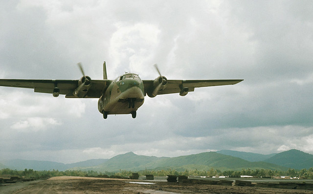 Duc Pho Airfield (LZ Bronco) 1967 - Photo by Richard B Mayes - Plane Landing