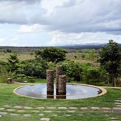 Fountain at the Daeyang Luke Hospital, Lilongwe