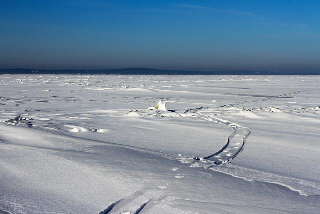 Ventės ragas - Nida ledu | Sniegas