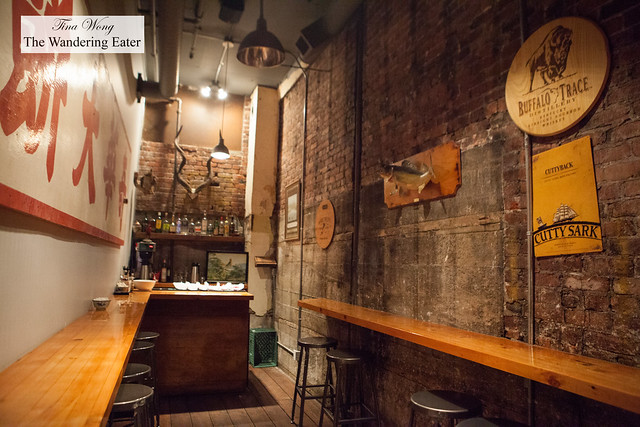 Back speakeasy-like bar area