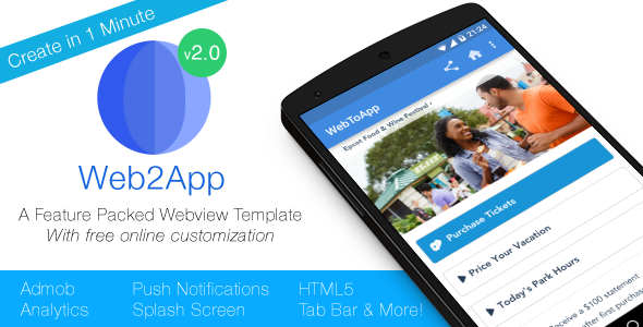Web2App v3.0 – Quickest Feature-Rich Android Webview